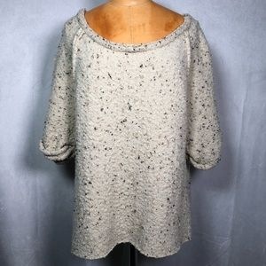 Free People Oversized Boucle Beige Knit Sweater